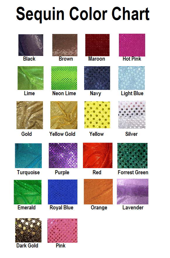 MyBowStore Sequin Color Chart
