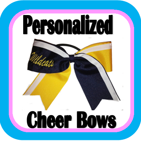 Personalized Cheer Bows