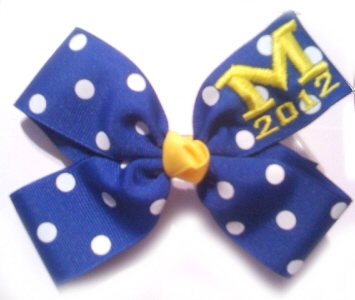 Polka Dot Monogram Bow