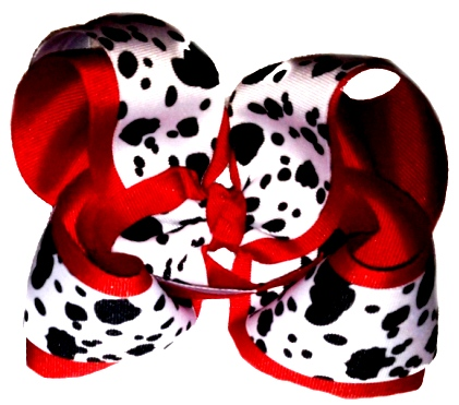 Cow Print Bow