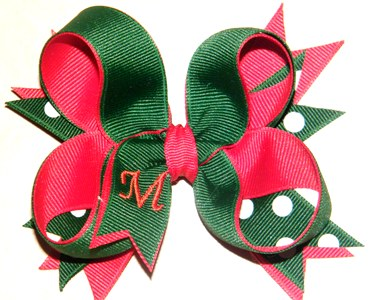 Monogram Holiday Twist