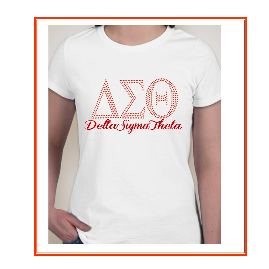 Delta Sorority Rhinestone Shirt