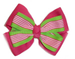 Geranium Stripe Hairbow