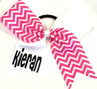 Hot Pink_White Chevron Mix