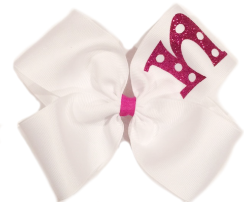 Metallic Monogram Bow