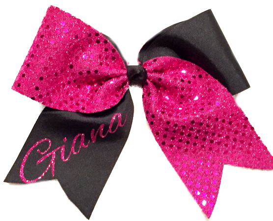 Personalized Sequin Bow