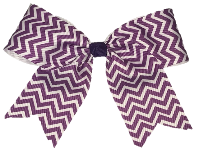 Basic Purple Chevron Cheer Bow