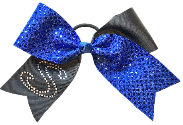 Bling Sequin Initial Bow