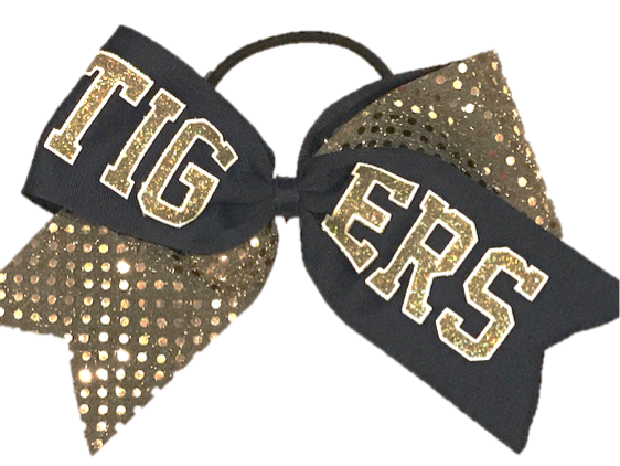 Sequin Mascot Cheer Bow