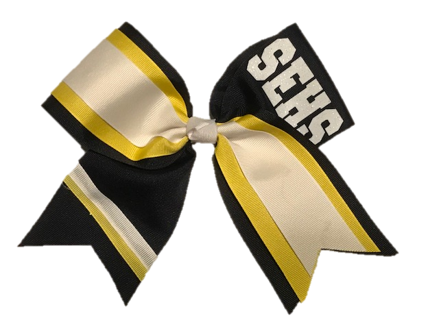 Layered Stripes Cheer Bow