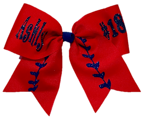 Name and Number Softball Bow