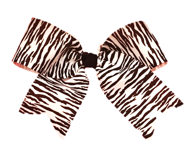 Basic Zebra Print Cheer Bow