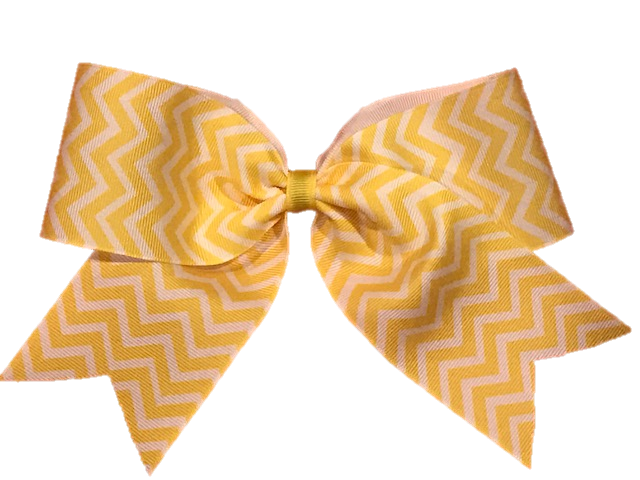 Basic Yellow Chevron Cheer Bow