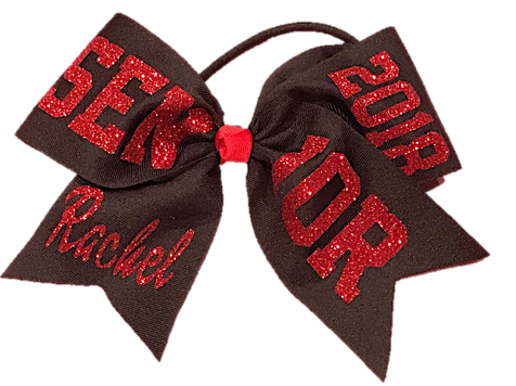 Black and Red Senior Bow