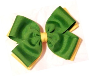 Girls Two Layer Bow