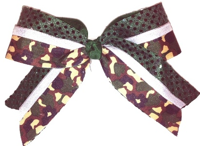 Camouflage Cheer Bow