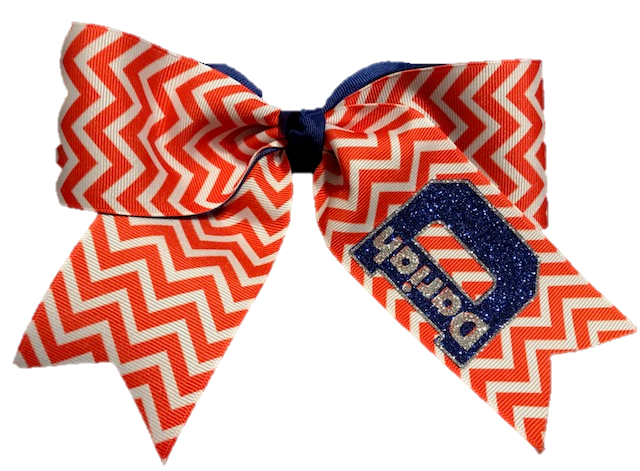 Double Chevron Cheer Bow