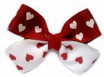 Double Hearts Hairbow