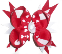 Red Hearts Spike Bow
