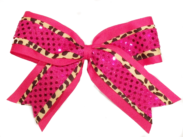 Leopard Sequin Bow