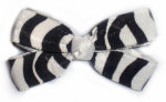Baby Zebra Print Hair Bow