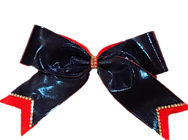 Royal_Red Cheer Bow