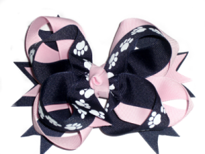 Twisted Paw Print Bow