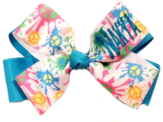 Peace Monogram Bow