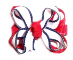 Patriotic Infant Hair Bow