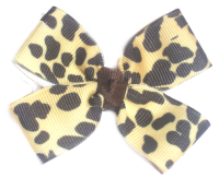 Cheetah Print Hair Bow