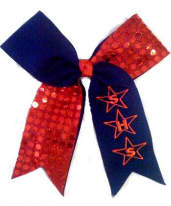 Star Monogram Sequin Bow