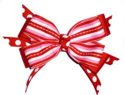Sweetheart Stripe Hairbow