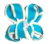 Turquoise Twisted Hair Bow