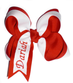 Two Layer Twisted Personalized Hair Bow