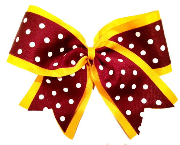Two Layer Polka Dot Cheer Bow