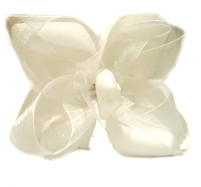Twisted Two Layer Organza Hair Bow