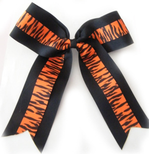 Zebra Cheerleading Bow